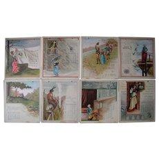 High Quality Color Lithographed 1886 Calendar