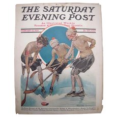 1929 Magazine Cover of Young Women Playing Hockey by Blanche Greer