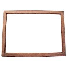"""Large Victorian Era Quarter Sawn Oak Picture Frame 21"""" x 30"""""""