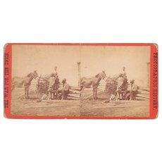 Civil War Stereoview of Black Civilians in Gettysburg, PA