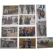 Lot of 11 Postcards of Amish and Mennonites from Lancaster, PA