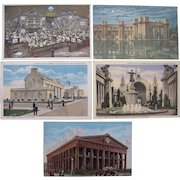 Lot 5 1915 Panama Pacific Exposition Postcards San Francisco, CA