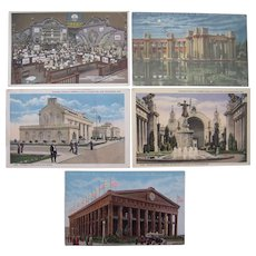 Lot 5 1915 Panama Pacific Exposition Postcards San Francisco, CA