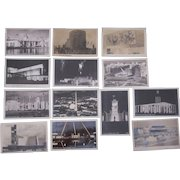 Lot 13 Real Photo Postcards from 1939 Worlds Fair