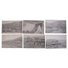 Lot 6 Postcards 1911 Flood at Austin, PA