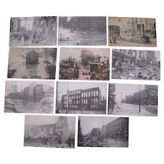 Lot 11 Postcards 1913 Flood in Dayton, OH