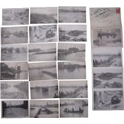 Lot 19 Postcards of 1913 Flood in Columbus, OH