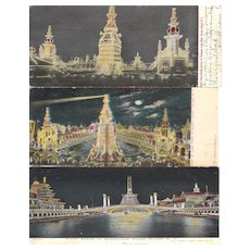 Lot 15 Night Time Coney Island Postcards