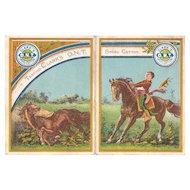 1880 Advertising Calendar for Clark's O.N.T. Spool Cotton