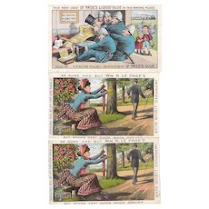 Lot 3 Advertising Trade Cards for LePage's Glue
