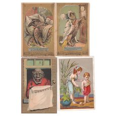 Lot 4 Atlantic and Pacific Tea Co ( A & P) Advertising Trade Cards