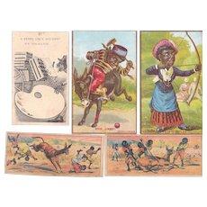 Lot 5 Comic Black Trade Cards