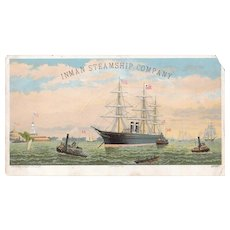 c1880s/1890s Advertising Trade Card for Inman Steamship Co.