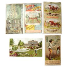 Lot 4 Victorian Advertising Trade Cards of Farming Equipment