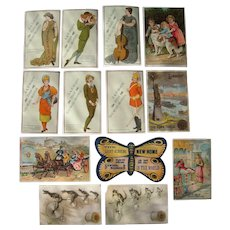 Lot 13 Sewing Advertising Trade Cards