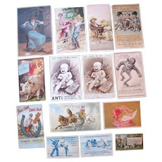 Lot 14  Advertising Trade Cards for Tobacco