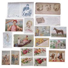 Lot 18 Advertising Trade Cards and Blotters for Medicine