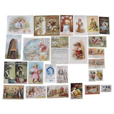Lot 27 Advertising Trade Cards for Food