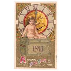 1911 New Years Postcard by Schmucker