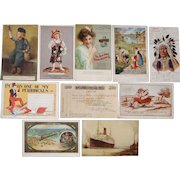 Lot 10 Advertising Postcards 1906-1930