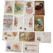 Lot 13 Thanksgiving Postcards