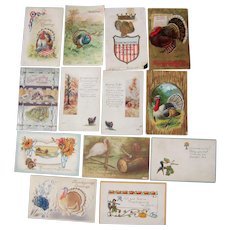 Lot 13 Thanksgiving Postcards