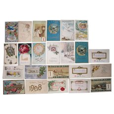 Lot 23 New Years Postcards