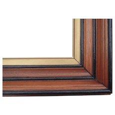 "Very Deep Victorian Era Walnut Picture Frame w/Gold Liner 11"" x 14"""