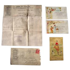 Advertising Lot John N. Lawyer Co. Allentown, PA (Tradecards, Billhead, Advertising Envelope)