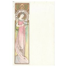 c1900 Mucha Postcard Moet et Chandon
