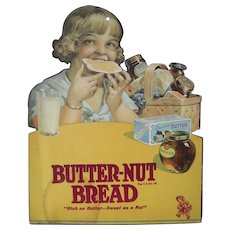 c1920s/1930s Butter-Nut Bread Advertising Sign #2