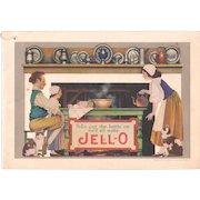 1924 Jello Advertising Cookbook w/ Maxfield Parrish Illustrations