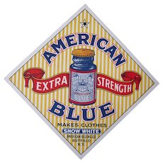 c1920s/1930s Advertising Sign for American Blue (Bleach)