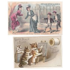 Lot 8 Victorian Advertising Tradecards for Sewing Products