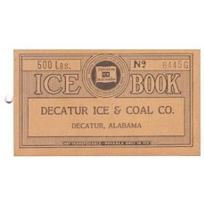 1930s Advertising Ice Book from Dectaur Ice and Coal Co. Dectaur , AL