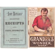 Pair Victorian Era Soap Advertising Booklets