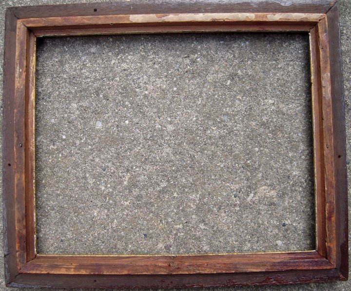 8e76a34840ef Thin Walnut Picture Frame w Gold Liner from the Victorian Era 8