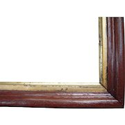 "Thin Walnut Picture Frame w/Gold Liner from the Victorian Era 8"" x 10"""