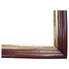 "Thin Walnut Picture Frame w/Gold Liner from the Victorian Era 8"" x 10"" - Red Tag Sale Item"