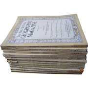 Complete Set National Geographic Magazines for 1923 (incl King Tut Tomb Discovery)