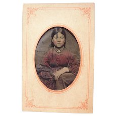 Tintype of Native American Woman
