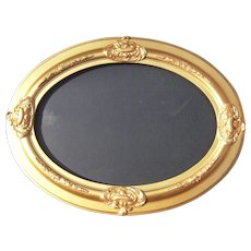 Large Mid 1800s Gold Oval Picture Frame - Red Tag Sale Item