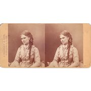 """c1860s/1870s Gurney Stereoview of Actress """"Nilsson"""""""