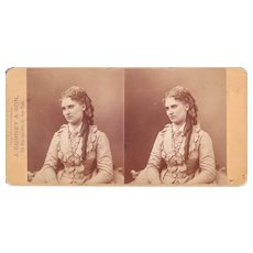 "c1860s/1870s Gurney Stereoview of Actress ""Nilsson"""