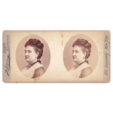 "c1870s Sarony Stereoview of Actress ""Patti"""