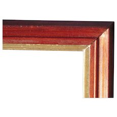 "Very Large Victorian Deep Walnut Picture Frame w/Gold Liner 24"" x 30"""
