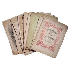 Lot 28 Sheet Music from mid to late 1800s