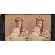 c1870s Gurney Stereoview of American Actress Rose Massey