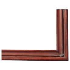 "Very Large Victorian Deep Walnut Picture Frame 22"" x 37"""
