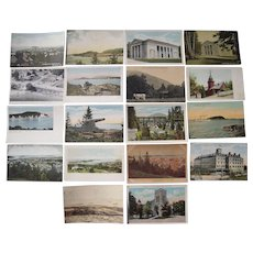 Lot 95 c1910 Postcards of Bar Harbor, Boothbay Harbor, Brunswick, Bath ME